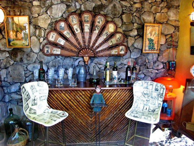 Barra del bar de La Chascona