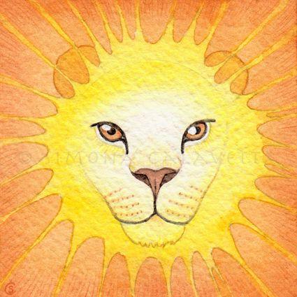 Astrological Signs: Leo - watercolour - 2014 (illustration for the cpiub.com horoscopes)
