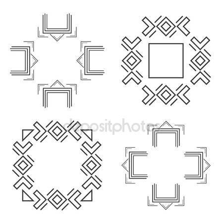 Letöltés - Készlet-ból divatos geometrikus alakzatokat csípő keretek gyűjtemény — Stock Illusztráció #115763800