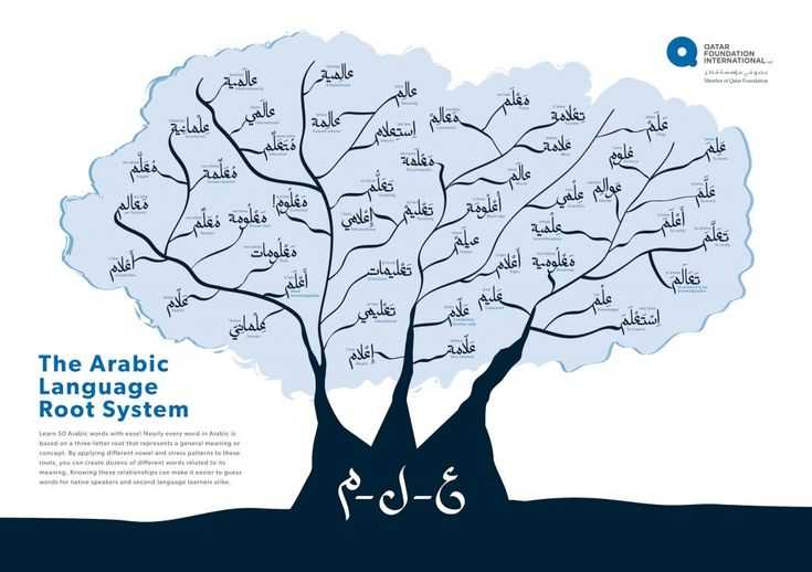 Infographic Arabic Language Root System