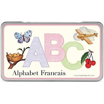 Cavallini French Alphabet Cards
