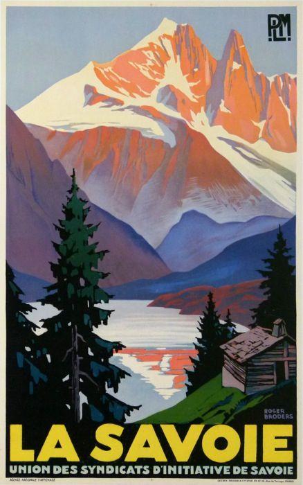 Roger Broders (1883-1953): La Savoie, 1930