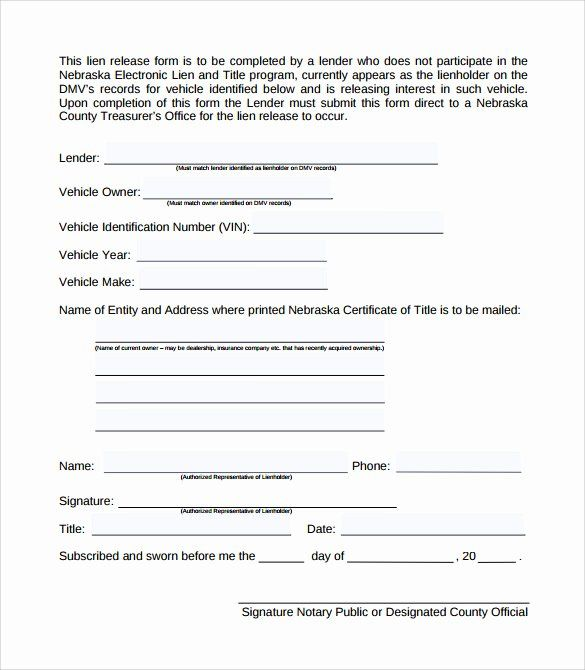 Lien Waiver Form Template Unique Sample Lien Release Form 8 Download Free Documents In Pdf Survey Template Resume Summary Examples Excel Calendar Template