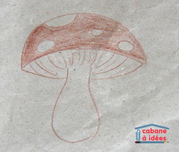 Les 25 meilleures id es de la cat gorie dessin de - Dessiner un champignon ...