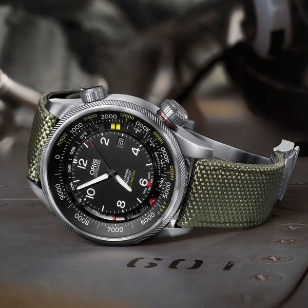ORIS the new Big Crown ProPilot Altimeter  Air Time - More than 75 years after Oris made its first pilot's watch, the company is proud to announce the launch of the most innovative pilot's watch in its history – the Oris Big Crown ProPilot Altimeter, the world's first automatic mechanical watch with a mechanical altimeter (See more at En/Fr/Es: http://watchmobile7.com/articles/oris-new-big-crown-propilot-altimeter) #watches #montres #relojes #oris