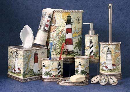 lighthouse bathroom decor | Harbour Lights Bath Accessories | OceanStyles.com