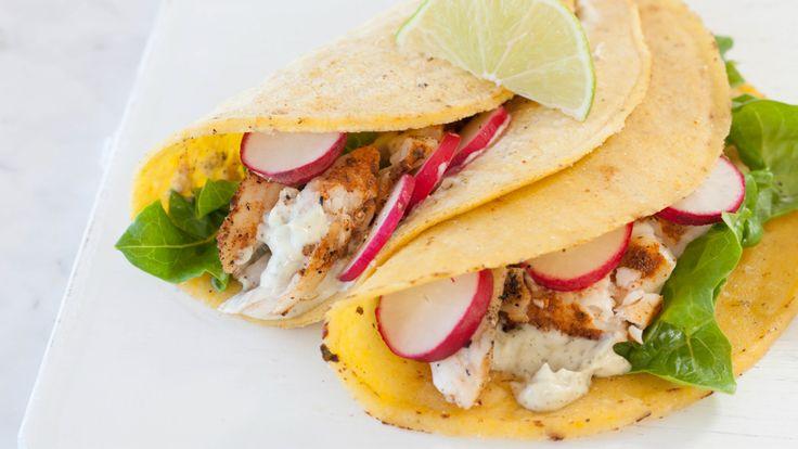 Tacos au poisson avec Aïoli Citron et Basilic