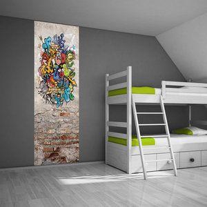 Zelfklevend muurdecoratie paneel: Graffiti