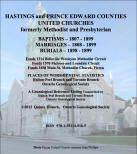 Hastings and Prince Edward Counties United Church Records (Baptisms, Marriages & Burials) on CD