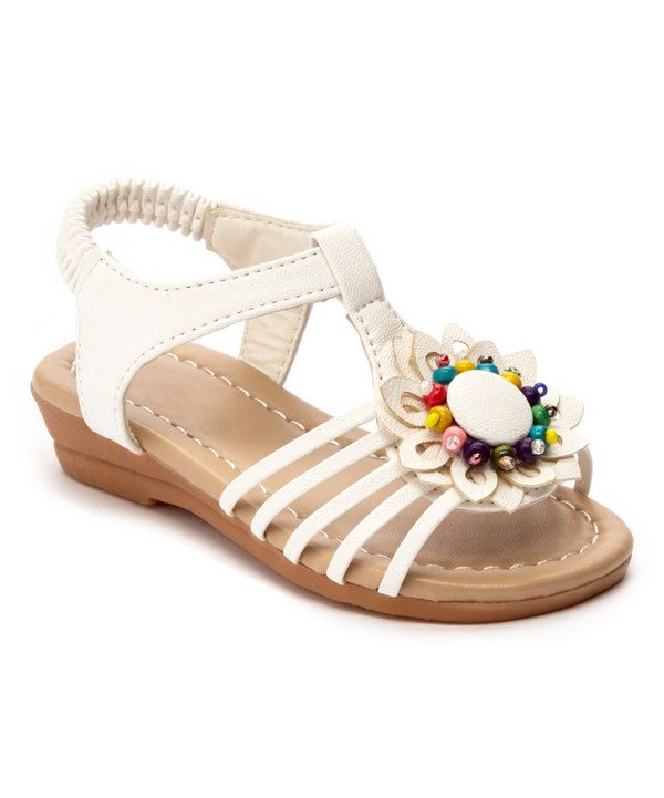 Look at this White Beaded Sandal on #zulily today!