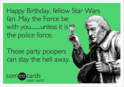 Free Birthday Ecard Happy Fellow Star Wars Fan Jpg 420x294