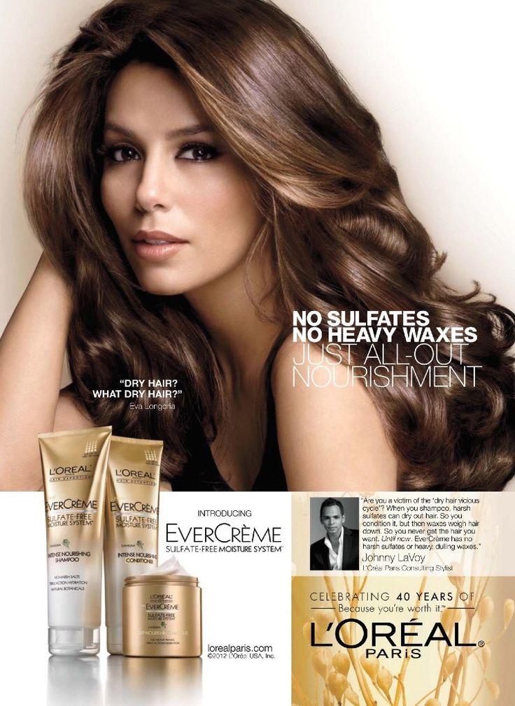 L'Oréal Paris HairCare Advertising with Eva Longoria ...