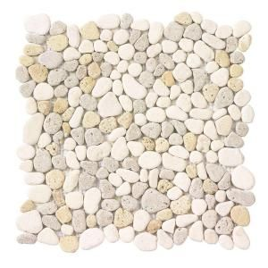 Love this river rock mosaic! I would love to see this on a shower floor...