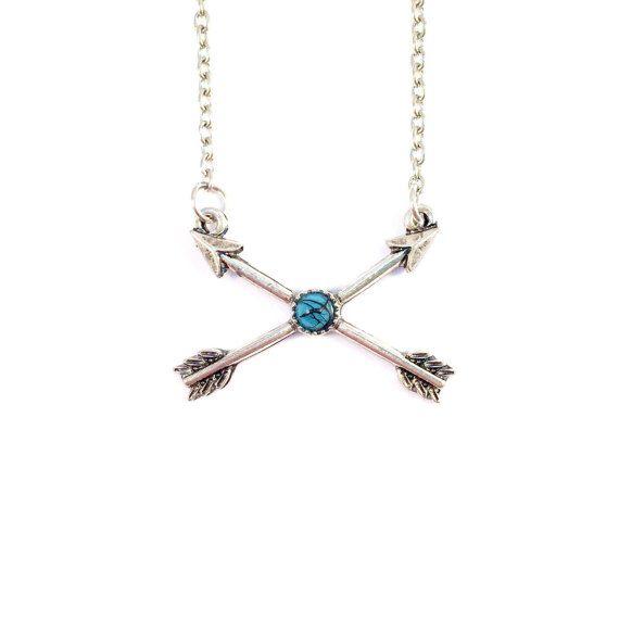 Verkauf  gekreuzte Pfeil Halskette von BlossomAndBronze auf Etsy