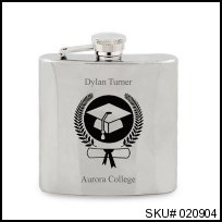 Graduation Crest Flask Cheers to the class of 2013!  #thingsengraved #thingsengravedgifts