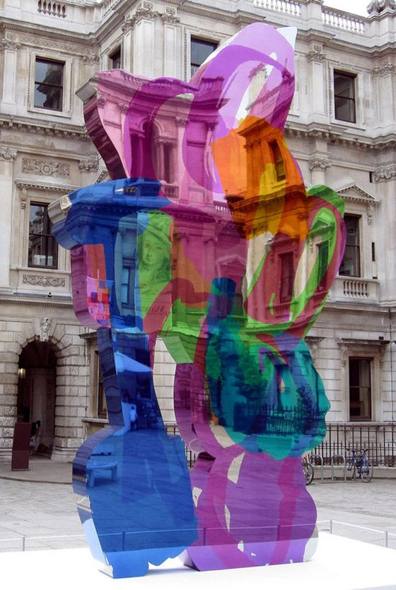 Coloring Book by Jeff Koons. High chromium stainless steel with transparent color coating.