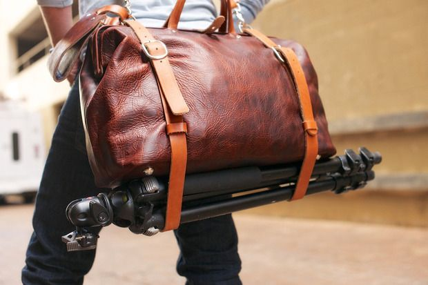 The Roamographer by HoldFast. A handmade, Bison leather camera bag with a modular interior for the discerning, traveling photographer