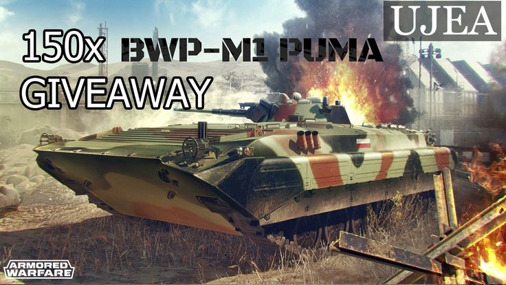 Armored Warfare: 150x GIVEAWAY BWP-M1 PUMA