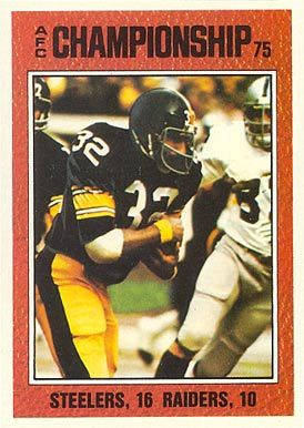 1976 topps football cards | on card afc championship card number 332 year 1976 set name 1976 topps ...