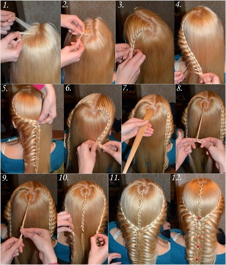 This braided waterfall hairstyle is the most beautiful design I have ever seen! The best thing o...