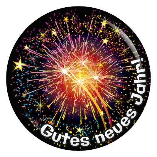 kiwikatze Button Gutes neues Jahr! Bunt