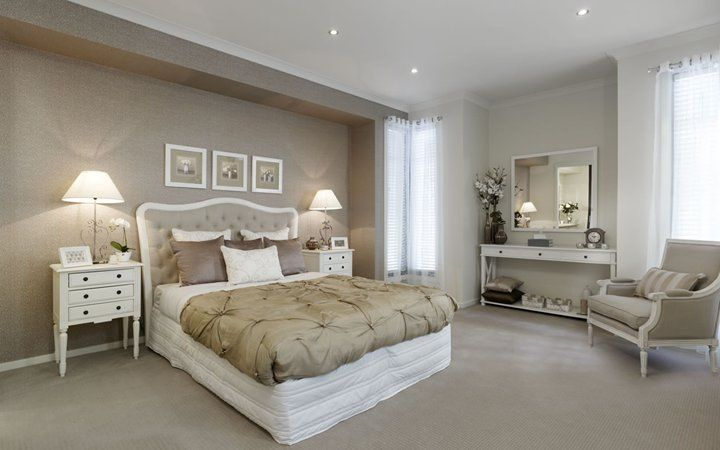 Light brown feature wall bedroom bedroom decor lights - Feature walls in living rooms ideas ...