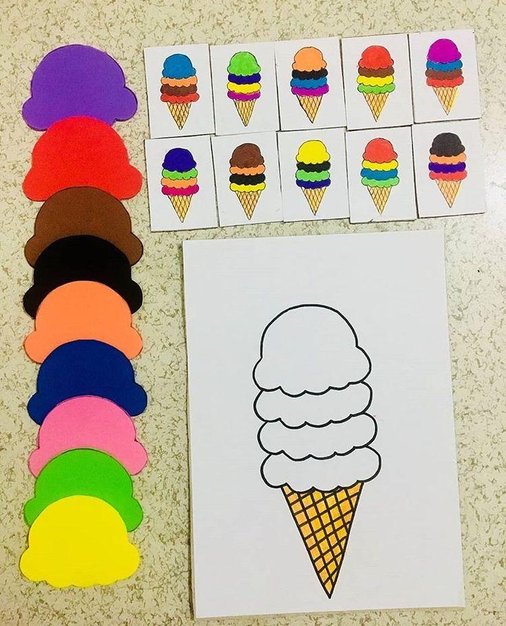 Creare #gelati secondo #sequenze prestabilite aiuta ad essere #bambini che fanno progetti! Impara ad imparare. #feuerstein #sviluppocognitivo