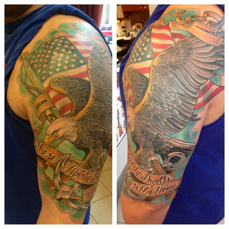 24 best tattoos images on pinterest tattoo ideas tattoo designs realistic eagle and american flag by hannah aitchison at deluxe tattoo chicago il publicscrutiny Image collections