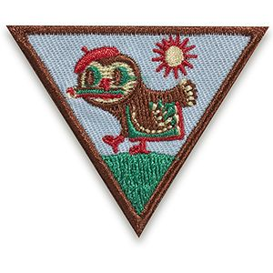 BROWNIE OUTDOOR ART CREATOR BADGE