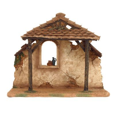"Stable<br>5"" Fontanini® Nativity Collection <br>Resin <br>9"" tall x 10½"" wide <br>Fontanini #50468"