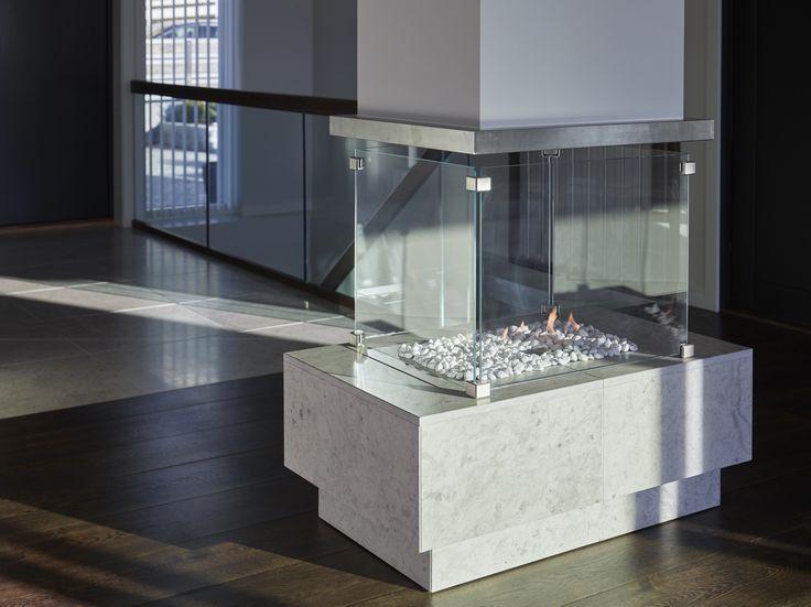Fireplace, Private Villa - Designed by Norwegian Interior Architect firm Metropolis arkitektur & design - www.metropolis.no