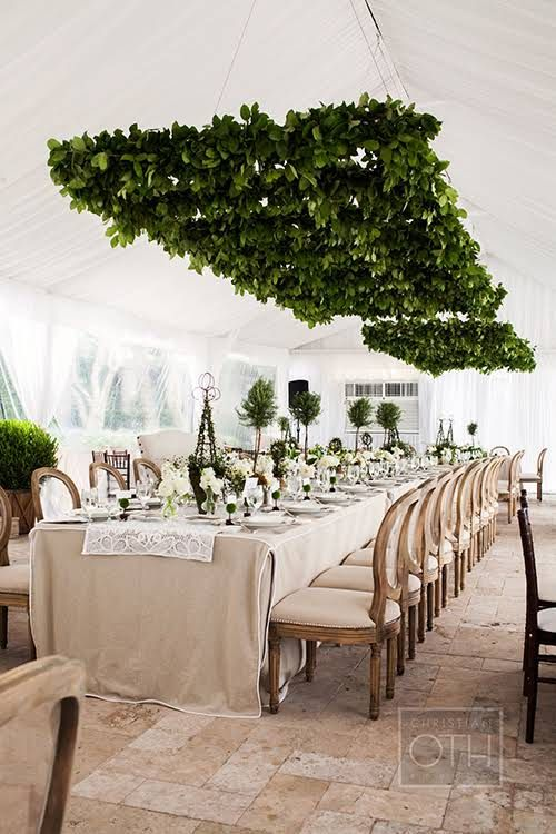 love these tressles with candles on top for over long table with maybe a chandelier between them. magnolia or lemon leaves