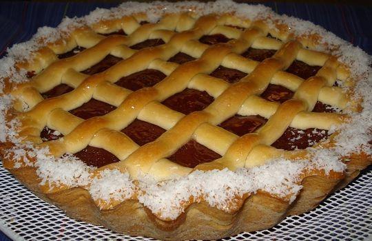 Pasta frola de dulce de membrillo