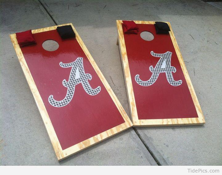 Custom Cornhole Boards | Alabama Crimson Tide Pictures | TidePics.com