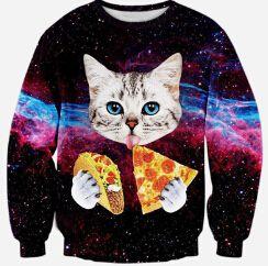 2016 nieuwe mode vrouwen/mannen 3d sweatshirts print kat/pizza/tijger/leeuw truien Grappige 3d womens Harajuku galaxy hoodies kleding in        Ondersteunen retail/groothandel en dropshippingNieuwe stijl komen elke  van hoodies en sweatshirts op AliExpress.com | Alibaba Groep