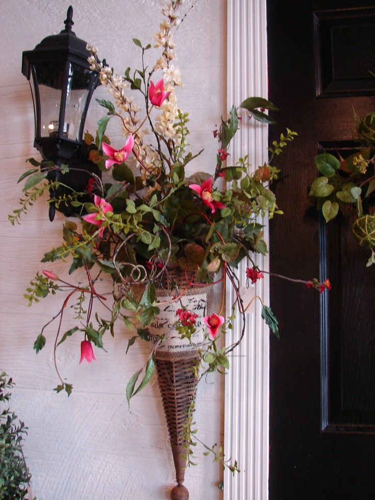 Cone Shaped Arrangement Great For Front Doors! At The White Hare