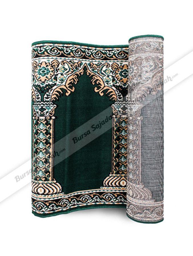 Karpet sajadah yang biasa dipakai di masjid atau musholla ini dibuat dengan  pilihan motif bergambar pilar dan masjidnya yang khas. Selain itu, karpet sajadah dengan ketebalan sekitar 0.8 cm ini memiliki ukuran 570 x 105 cm yang terdiri dari 10 sajadah.