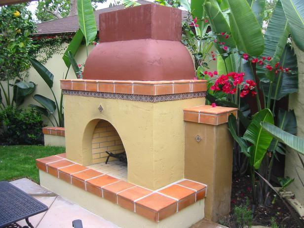 Spanish Flavor in Outdoor Fireplace Design Ideas to Suit Every Style from HGTV