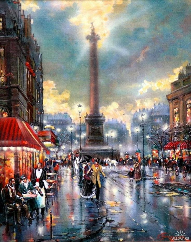 Vladimir Stroozer ~ via Galia Cherkezova .- Cafe – a mirror of the soul of Paris