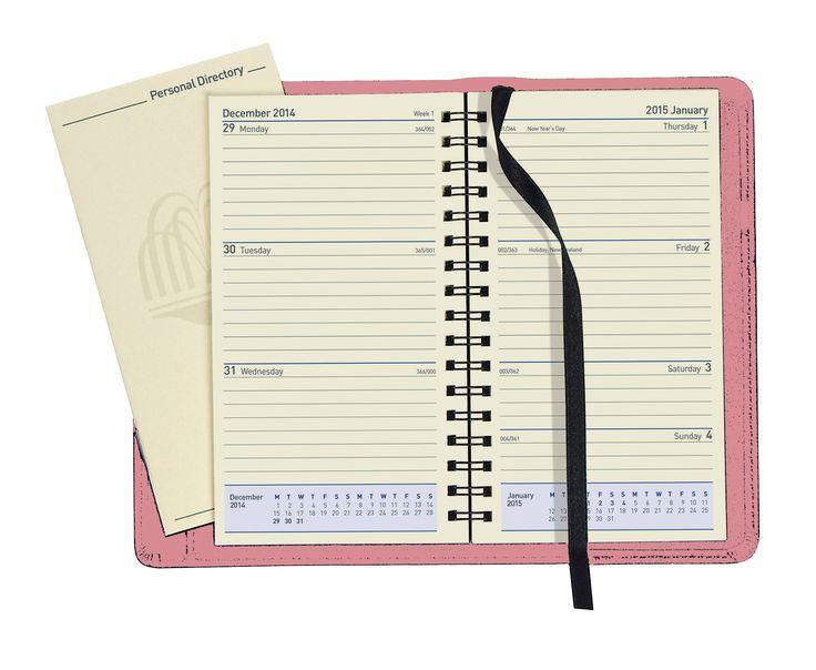 Trend Collins VM Pink Elite Wochenkalender Studenten Tagebuch Englisch Amazon de
