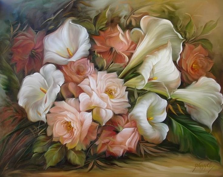 Картинка для картины цветы