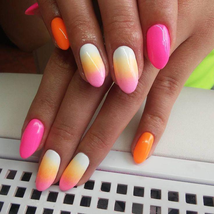 #ombrenails #indigo #indigonails #indigogelpolish #pazurki #nails #nailsinspiration #summer