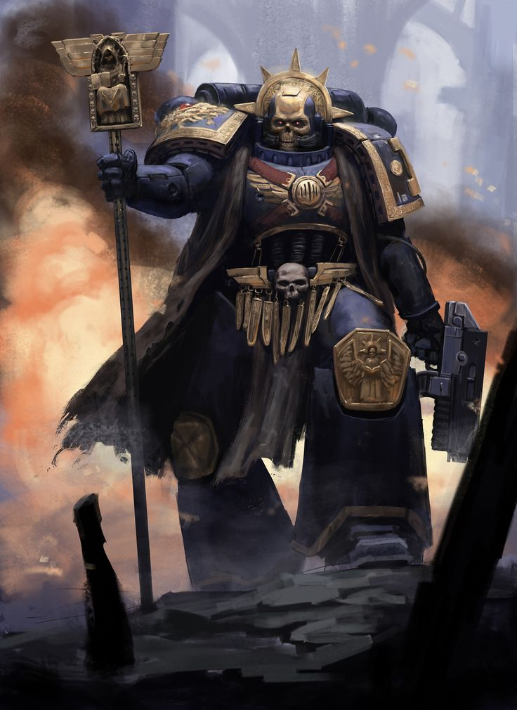 ArtStation - Space Marine Chaplain, Daniel Farin