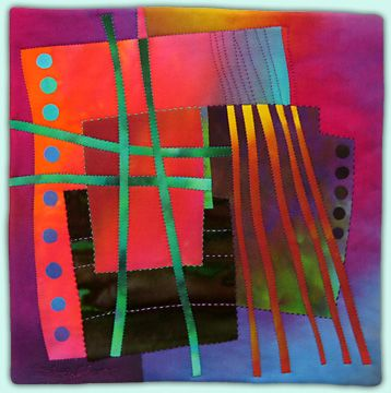 Melody Johnson: Art Quilts - Galleries - Streets and Rivers Series: Fiber Art Quilts, Abstract Contemporary Quilts, Art Fiber Textile Art, Color, Amazing Quilts, Fabric Artistry