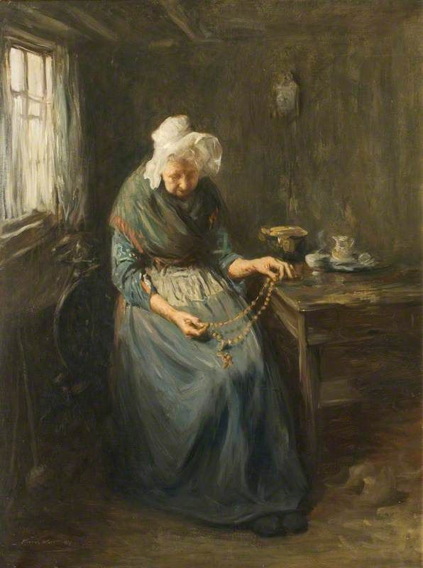 Old Lady with a Rosary
