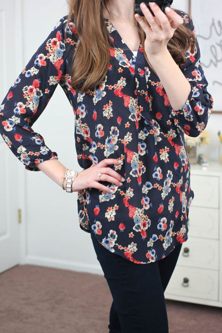 Would like this, but in a different print. Alessandro Silk V-Neck Blouse from Amour Vert For Stitch Fix - January Stitch Fix