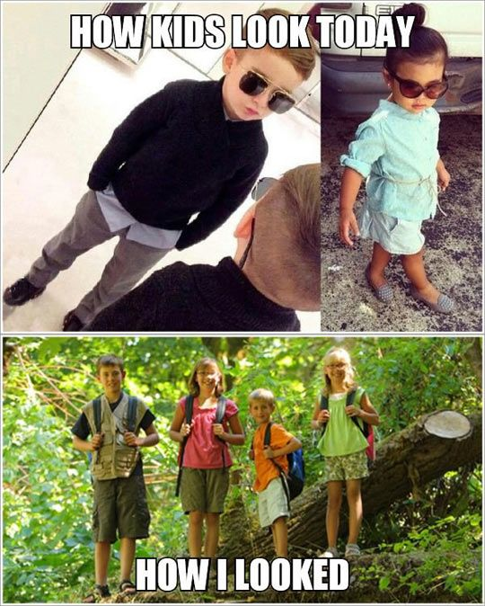 Kids Fashion Now And Then