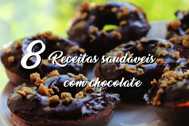 Donuts de chocolate saudáveis Salame de chocolate fit com whey Chocolate quente saudável com curcuma Mousse de chocolate com whey Pudim de chocolate com whey Mousse de chocolate saudável #2 Trufas …