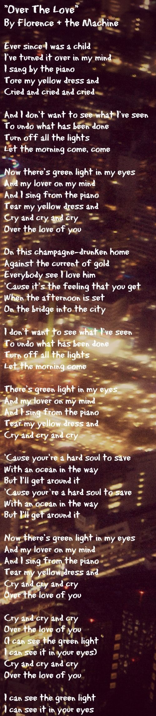 Yellow dress lyrics gatsby