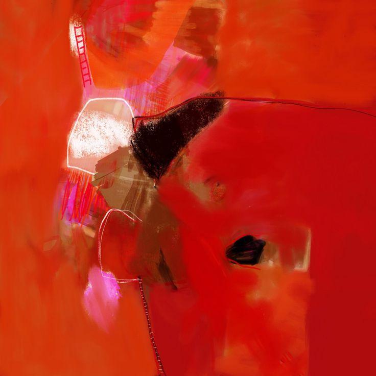 Appréhension, contemporary abstract graphic colorful art from Fresh French artists on sale gallery TACT // art contemporain art abstrait art graphique art digital - Une sélection de la galerie TACT - Vente d'oeuvres originales en série limitée à 8 exemplaires - FRESH artiste Octave Pixel